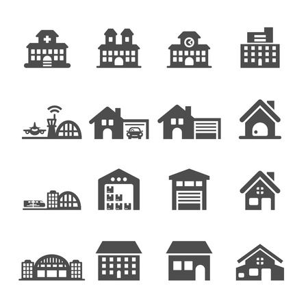 church group: building icon set 7, vector eps10.