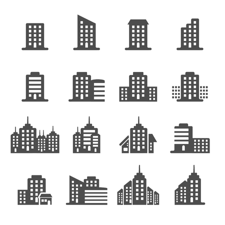 building icon set 6, vector eps10.