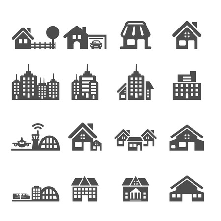 home construction: building icon set 5