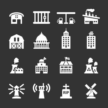 prison house: building icon set 8, vector eps10.