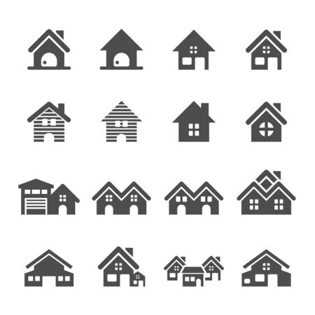 vector eps10: house building icon set, vector eps10.