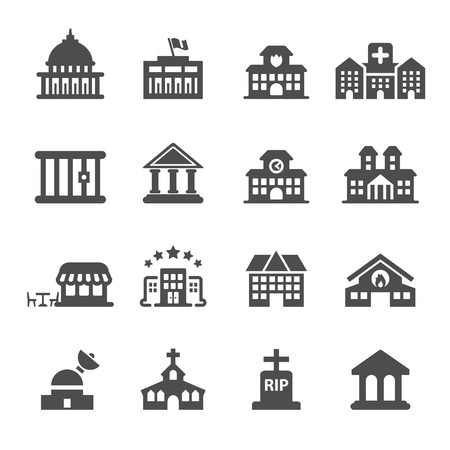 churches: building icon set 9, vector eps10.