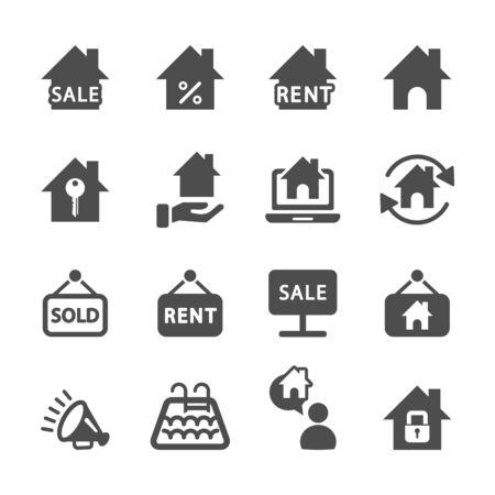 pr: real estate icon set, vector eps10.