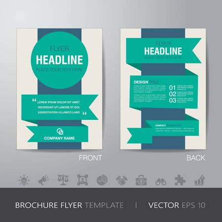 bleed: business brochure flyer design layout template in A4 size, with bleed, vector eps10.