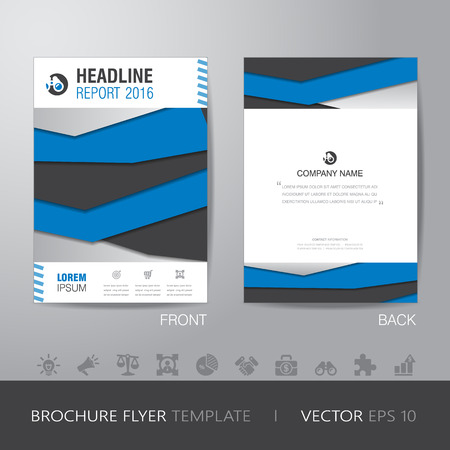 bleed: business annual report brochure flyer design layout template in A4 size, with bleed, vector eps10.