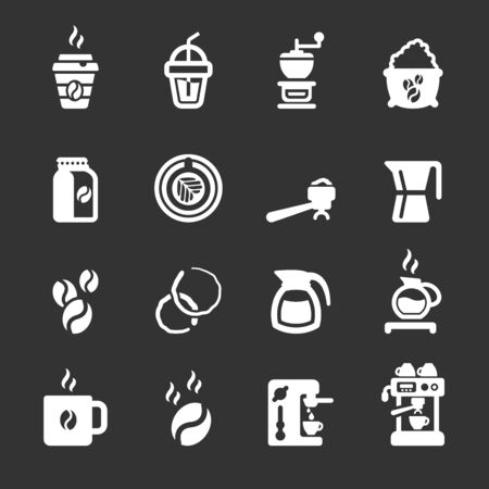 sign maker: coffee icon set, vector eps10.