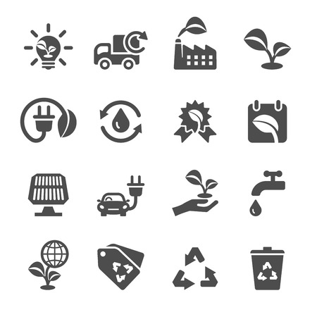conservation: ecology icon set, vector eps10.