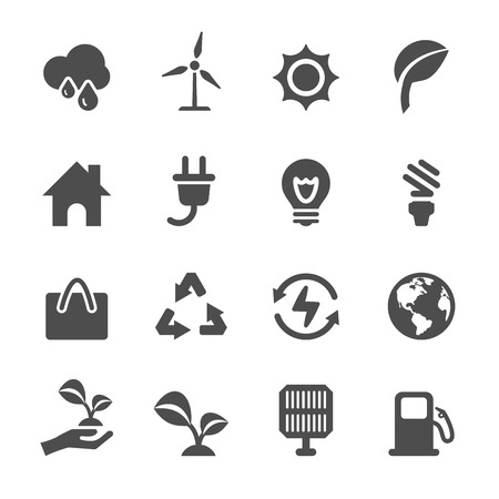 energy and ecology icon set, vector eps10.