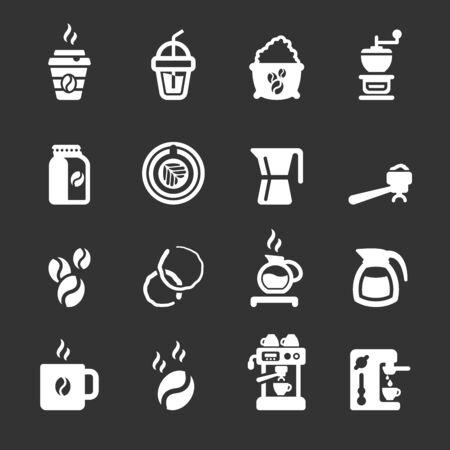 coffee icon set, vector eps10.