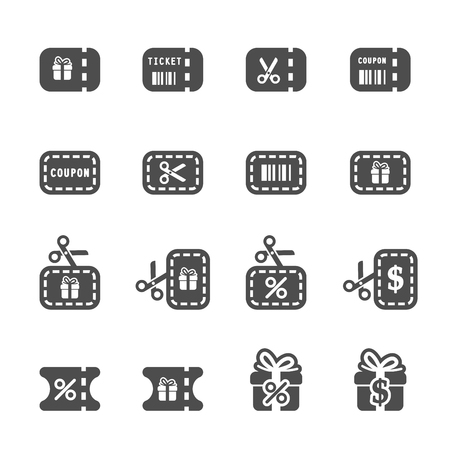 coupon and discount icon set 3, vector eps10.