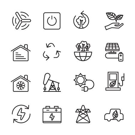 house icon: thin line ecology icon set 8