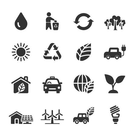 ecology icon set 5, vector eps10. Illustration