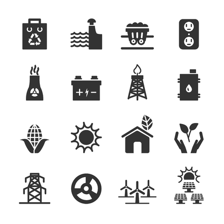 ecology energy icon set 3, vector eps10.