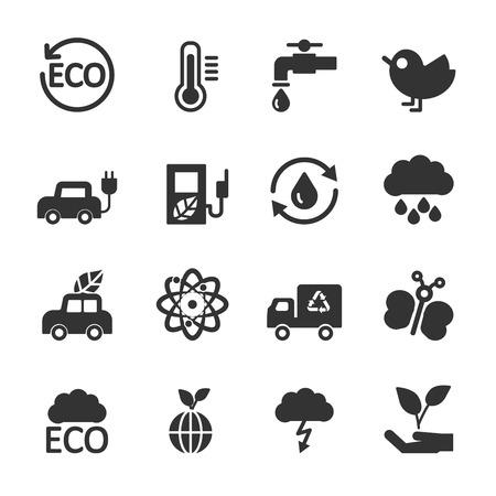 ecology energy icon set