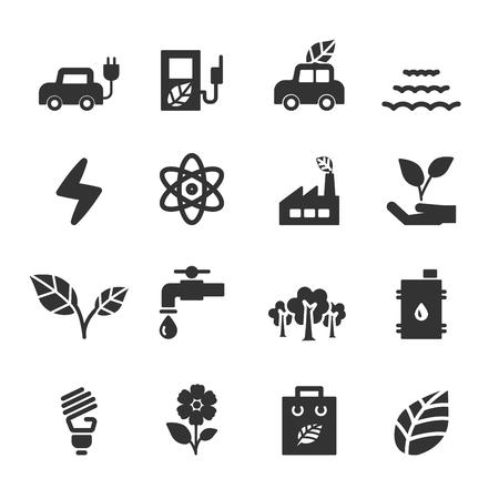 ecology icon set, vector eps10.