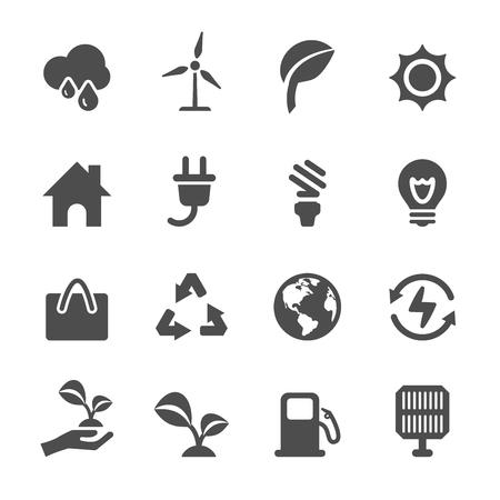 energy and ecology icon set Illustration