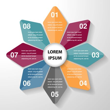 circle infographic template diagram chart, business parts steps or processes, vector eps10.