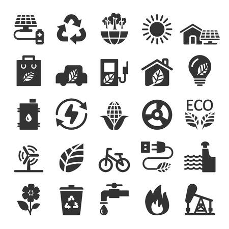 ecology icon set 9, vector eps10. Illustration