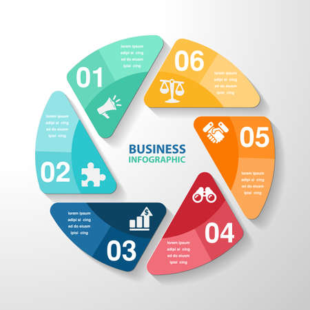 infographic template element, business parts steps or processes, vector .