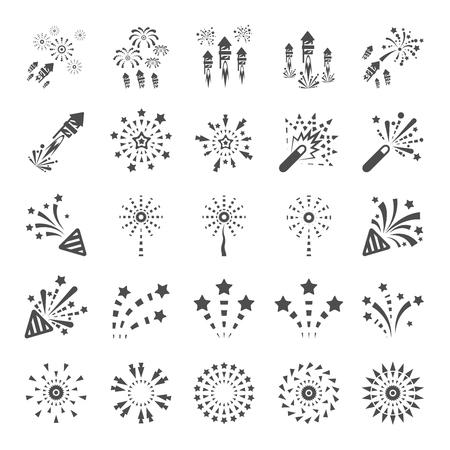 firework icon set 13, vector eps10.