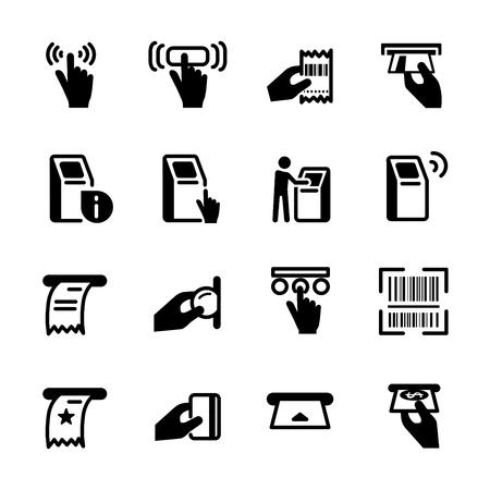 Kiosk icon set Illustration