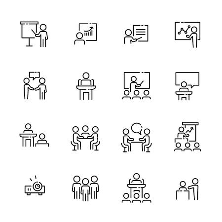 Business work icon set, vector illustration. Illustration