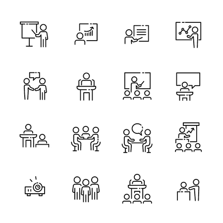 Business work icon set, vector illustration. Illustration