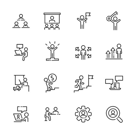 Business work icon set 2, vector eps10. Illustration
