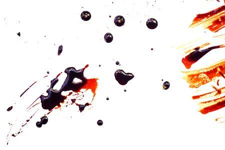 Human blood on white background. Archivio Fotografico - 127826829
