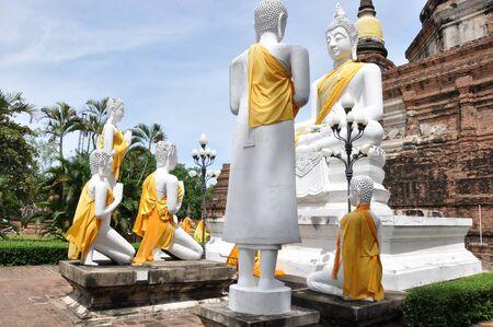 actuary: Ayutthaya Historical Park in Thailand Stock Photo