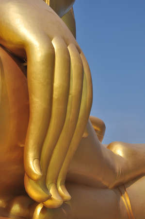 The Big Hand Buddha at Wat Muang Temple Angthong Thailand Stock Photo - 16645927