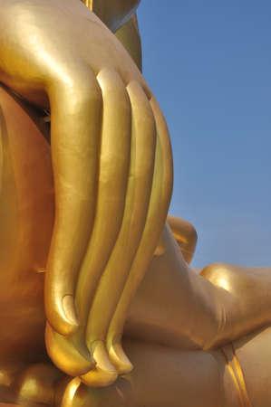 The Big Hand Buddha at Wat Muang Temple Angthong Thailand Stock Photo - 16645927