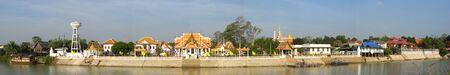 actuary: The Panorama view of Wat Krasatra Temple Ayutthaya Thailand