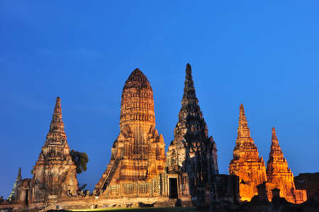 Wat Chaiwatthanaram, Ancient temple and monument in Thailand Stock Photo - 17479145