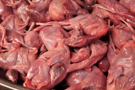 Raw Bird  in fresh market of Thailand photo
