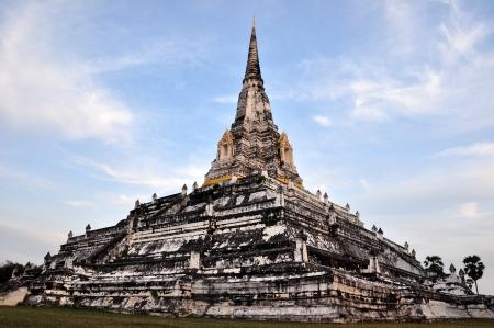 The Big Pagoda at Wat Phukhutong Temple Ayutthaya Thailand Stock Photo - 17530873
