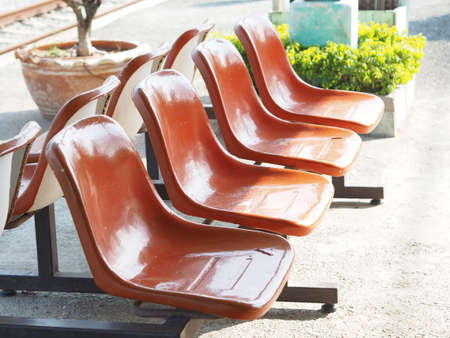 chairs: Chairs Station Stock Photo