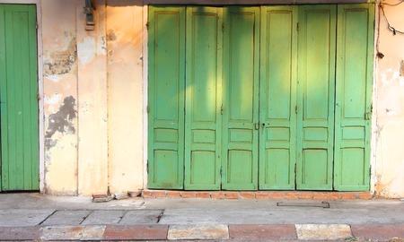 green door: Antique green door Editorial