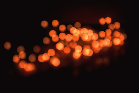 Abstract Close-Up Of Intricate Defocused Orange Christmas Lights Resembling Chinese Lanterns Taken With Helios 44-2 Vintage Lens During Night