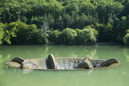 Overflow Funnel At Lake Vida Near Luncasprie Village In Romania Stock Photo