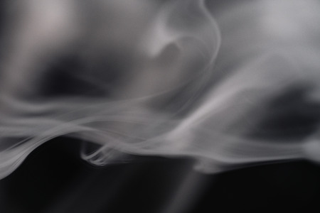 Smoke On Black Background Close-Up