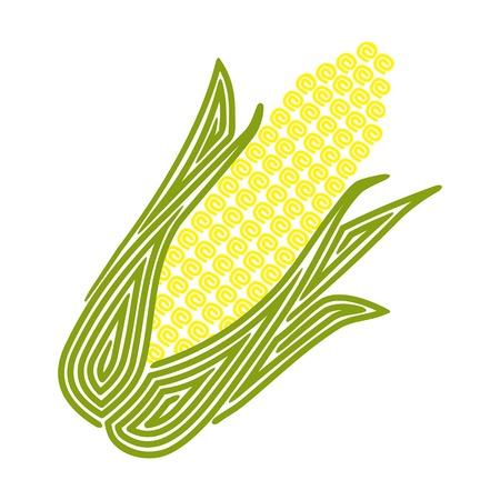 Corn illustration isolated on white background Ilustração