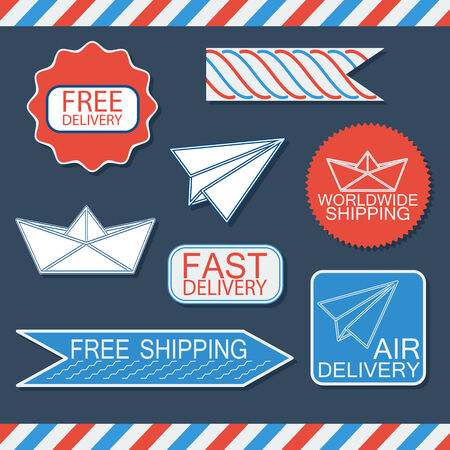 Delivery badges and labels  Vector illustration  Vector