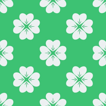 Seamless pattern with clovers. Vector illustration. Soft colors. Vector