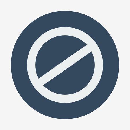 negar: Estilo individual plana negar icono. Ilustraci�n del vector. Cancelar icono. Vectores