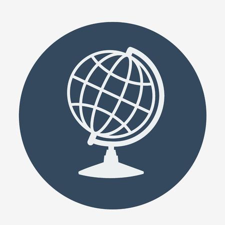 globe  the terrestrial ball: Single globe icon. vector illustration. Monochrome