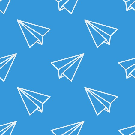 soft colors: Seamless pattern with paper planes. Vector illustration. Soft colors.