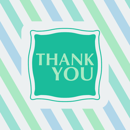 thanks a lot: Thank you note on the striped background. vector illustration. Flat style Illustration