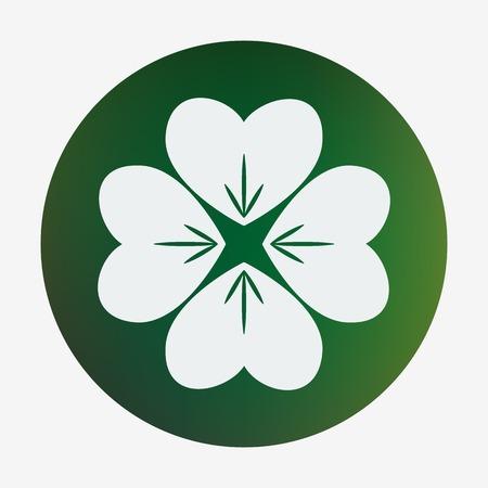 four leaf: Four leaf clover. Vector illustration. Element in flat design. Illustration