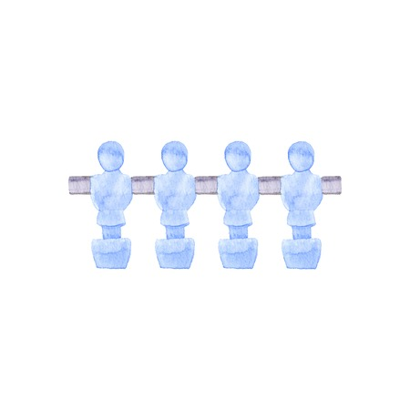 futbol soccer: Foosball players object on the white background Illustration